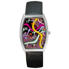 Fractal Roots Barrel Style Metal Watch