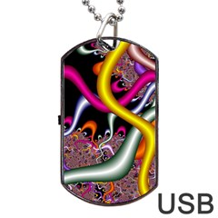 Fractal Roots Dog Tag USB Flash (Two Sides)