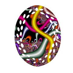 Fractal Roots Oval Filigree Ornament (Two Sides)