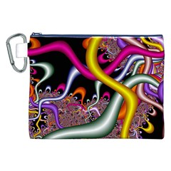 Fractal Roots Canvas Cosmetic Bag (XXL)