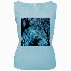 Fractal Forest Women s Baby Blue Tank Top