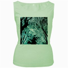 Fractal Forest Women s Green Tank Top