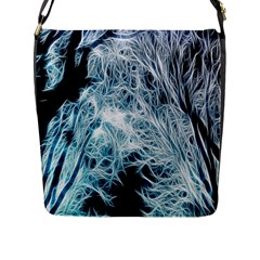 Fractal Forest Flap Messenger Bag (L)