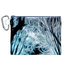 Fractal Forest Canvas Cosmetic Bag (XL)