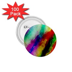 Abstract Colorful Paint Splats 1 75  Buttons (100 Pack)
