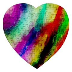 Abstract Colorful Paint Splats Jigsaw Puzzle (Heart)