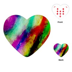 Abstract Colorful Paint Splats Playing Cards (Heart)