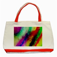 Abstract Colorful Paint Splats Classic Tote Bag (Red)