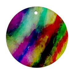 Abstract Colorful Paint Splats Round Ornament (Two Sides)