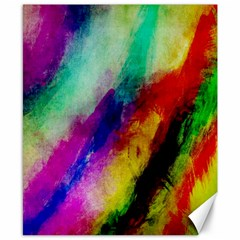 Abstract Colorful Paint Splats Canvas 8  X 10