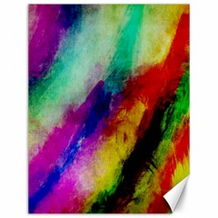 Abstract Colorful Paint Splats Canvas 12  X 16