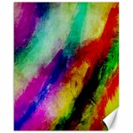 Abstract Colorful Paint Splats Canvas 16  x 20   20 x16 Canvas - 1