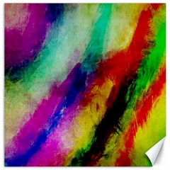 Abstract Colorful Paint Splats Canvas 20  x 20