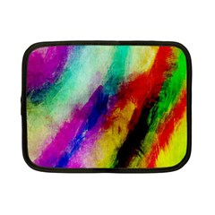 Abstract Colorful Paint Splats Netbook Case (Small)