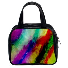 Abstract Colorful Paint Splats Classic Handbags (2 Sides)