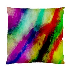 Abstract Colorful Paint Splats Standard Cushion Case (two Sides)
