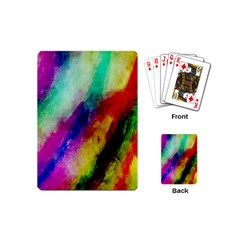 Abstract Colorful Paint Splats Playing Cards (Mini)
