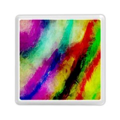 Abstract Colorful Paint Splats Memory Card Reader (square)