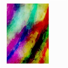 Abstract Colorful Paint Splats Large Garden Flag (Two Sides)