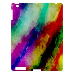 Abstract Colorful Paint Splats Apple Ipad 3/4 Hardshell Case