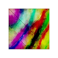 Abstract Colorful Paint Splats Acrylic Tangram Puzzle (4  x 4 )