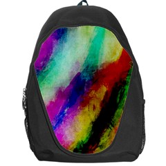Abstract Colorful Paint Splats Backpack Bag