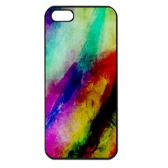 Abstract Colorful Paint Splats Apple iPhone 5 Seamless Case (Black)
