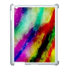 Abstract Colorful Paint Splats Apple iPad 3/4 Case (White)