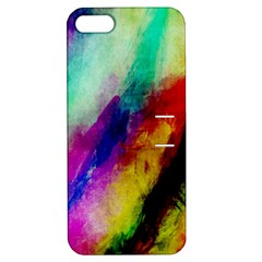 Abstract Colorful Paint Splats Apple iPhone 5 Hardshell Case with Stand