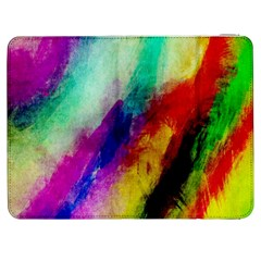 Abstract Colorful Paint Splats Samsung Galaxy Tab 7  P1000 Flip Case