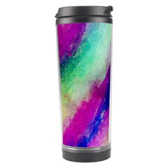 Abstract Colorful Paint Splats Travel Tumbler