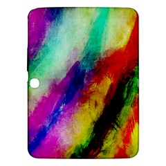 Abstract Colorful Paint Splats Samsung Galaxy Tab 3 (10.1 ) P5200 Hardshell Case