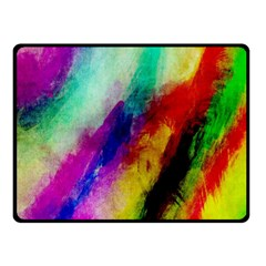 Abstract Colorful Paint Splats Double Sided Fleece Blanket (Small)