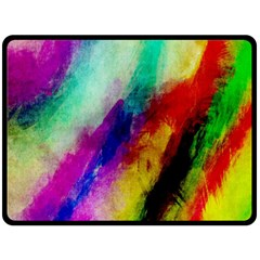Abstract Colorful Paint Splats Double Sided Fleece Blanket (Large)