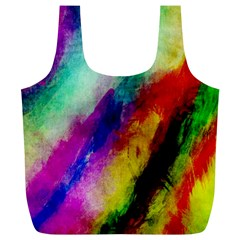 Abstract Colorful Paint Splats Full Print Recycle Bags (L)
