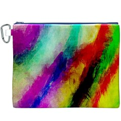 Abstract Colorful Paint Splats Canvas Cosmetic Bag (XXXL)
