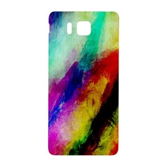 Abstract Colorful Paint Splats Samsung Galaxy Alpha Hardshell Back Case