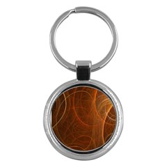 Fractal Color Lines Key Chains (round)