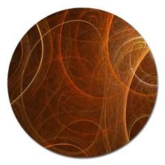 Fractal Color Lines Magnet 5  (Round)