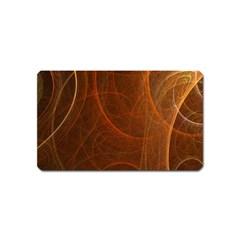 Fractal Color Lines Magnet (name Card)
