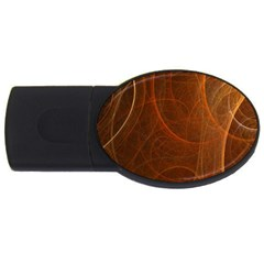 Fractal Color Lines Usb Flash Drive Oval (2 Gb)