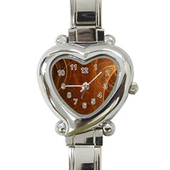 Fractal Color Lines Heart Italian Charm Watch