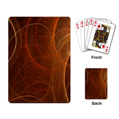 Fractal Color Lines Playing Card