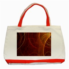 Fractal Color Lines Classic Tote Bag (red)