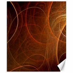 Fractal Color Lines Canvas 8  X 10