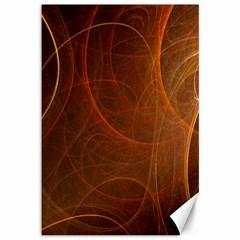 Fractal Color Lines Canvas 12  X 18