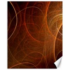 Fractal Color Lines Canvas 16  x 20