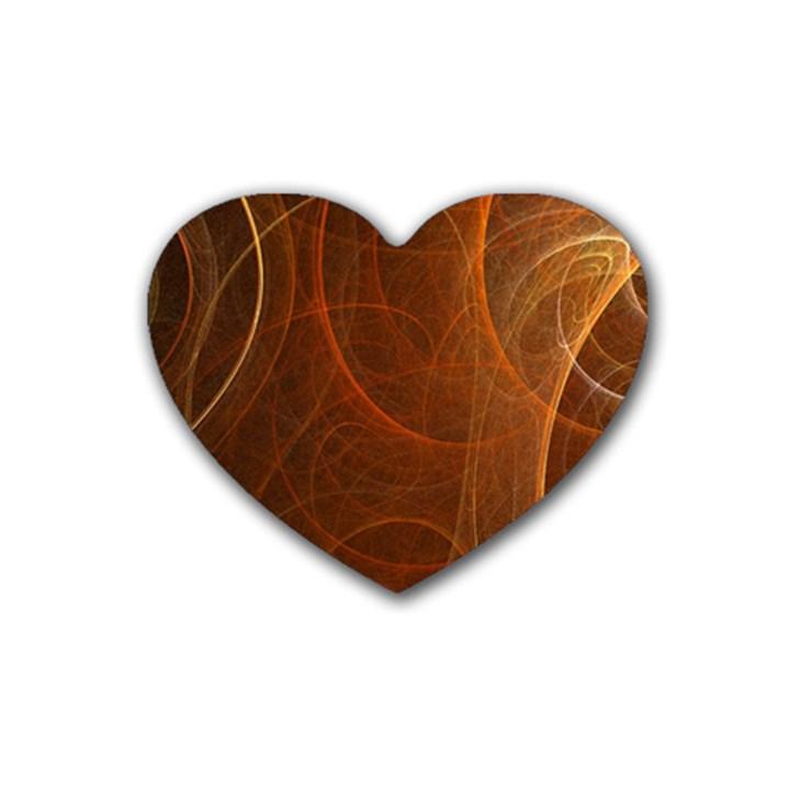 Fractal Color Lines Heart Coaster (4 pack)