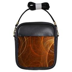 Fractal Color Lines Girls Sling Bags