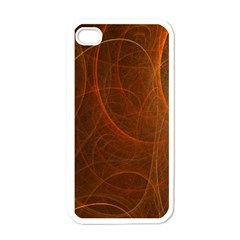 Fractal Color Lines Apple Iphone 4 Case (white)
